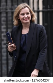 LONDON - NOV 22, 2017: Amber Rudd MP, Secretary of State for the Home Department at Downing Street