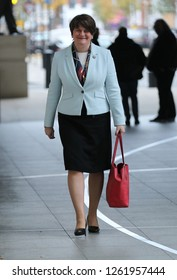 LONDON - NOV 25, 2018: Arlene Foster seen at the BBC studios for the Andrew Marr Show