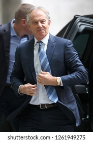 LONDON - NOV 25, 2018: Tony Blair seen arriving at the BBC studios for the Andrew Marr Show