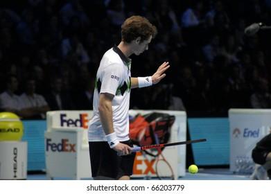 LONDON - NOV 27: Andy Murray At The ATP World Tour November 27, 2010 O2 Building, Central London, England.
