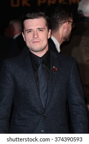 LONDON - NOV 5, 2015: Josh Hutchinson attends The Hunger Games: Mockingjay - Part 2 - UK film premiere on Nov 5, 2015 in London
