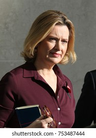 LONDON - NOV 5, 2017: Amber Rudd Home Secretary seen leaving the BBC after appearing on the Andrew Marr Show