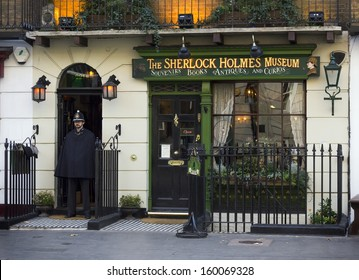 LONDON - NOVEMBER 15: The Sherlock Holmes Museum on Baker Street, one of the famous tourist attractions in London, November 15, 2012, England