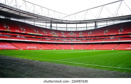 LONDON NOVEMBER 16: The Emirates stadium on November 16th, 2012 in London, UK