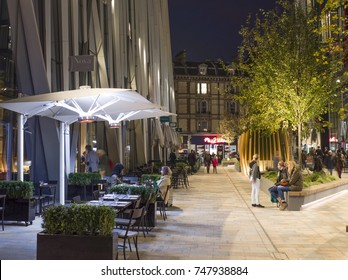 LONDON- NOVEMBER, 2017:  Bars and restaurants in Nova Victoria, SW1-  a mixed use development of offices, residential, retail & leisure close to Victoria Station.