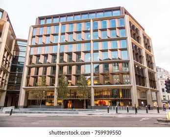 London, November 2017. A front external view of the of the new Bloomberg European head office, in the City of London .