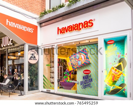 9b9de916dfa5 London November 2017 View Havaianas Store Stock Photo (Edit Now ...