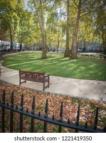 LONDON- NOVEMBER, 2018: Berkeley Square, a large town square in Mayfair in the west end of London