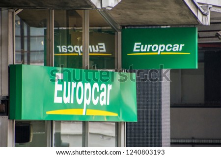 London November 2018 Europcar Vehicle Rental Stock Photo Edit Now
