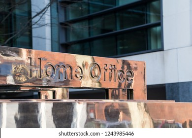 LONDON- NOVEMBER, 2018: Home Office or Home Department- British government department in Westminster