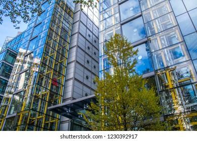 LONDON- NOVEMBER, 2018: Marks &  Spencer headquarters in Paddington. A major British multinational retailer.