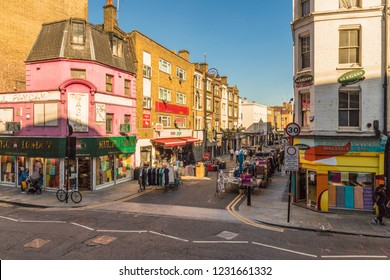 London. November 2018. A view of petticoat lane maret in London