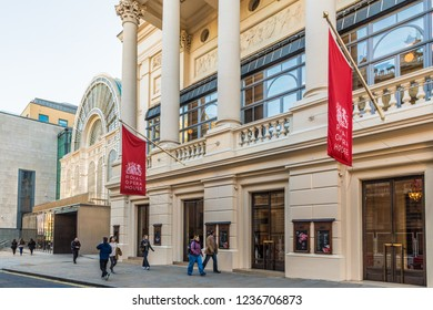 London. November 2018. A view of The Royal Opera House in Covent Garden in London