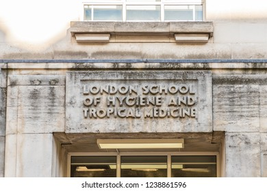 London. November 2018. A view of the London School of hygine and Tropical medecine in London