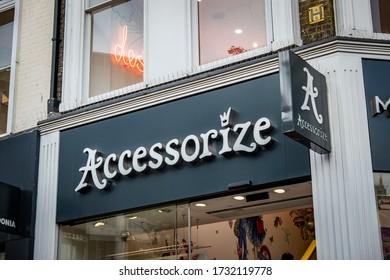 LONDON- NOVEMBER, 2019: Accessorize store on Oxford Street, a British high street fashion accessory brand