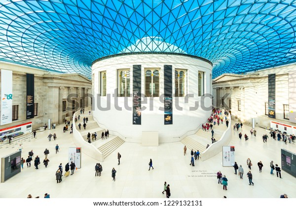 LONDON - NOVEMBER 23, 2017: The Great Court of The British Museum