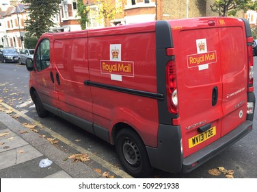 London, November 2nd 2016, A van used by the Royal Mail, the UK's largest postal service, to deliver parcels, packages and larger letters to households and businesses premises