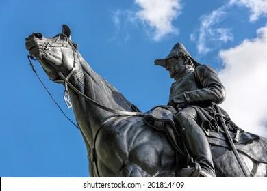 LONDON - NOVEMBER 3 : Duke of Wellington Monument in London on November 3, 2013