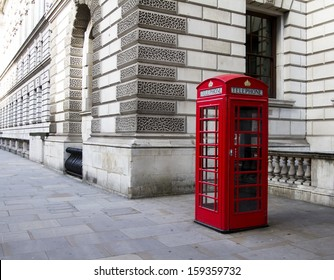 LONDON - Oct 10: Old telephone booth on Oct 10, 2013 in London. With more than 14 million international arrivals in 2009, London is the most visited city in the world