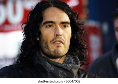 LONDON - OCT 11: Russell Brand At The Despicable Me Premiere October 11, 2010 in Leicester Square London, England.