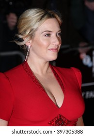 LONDON - OCT 14, 2013: Kate Winslet attends a screening of Labor Day during the 57th BFI London Film Festival at Odeon West End on Oct 14, 2013 in London