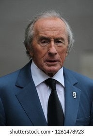 LONDON - OCT 14, 2018: Sir Jackie Stewart seen at the BBC studios in London.