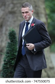 LONDON - OCT 31, 2017: Gavin Williamson MP Chief Whip attends a Cabinet meeting at 10 Downing Street in London