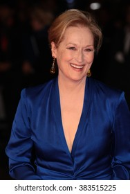 LONDON - OCT 7, 2015: Meryl Streep attends Suffragette film premiere and gala opening night, 59th BFI London Film Festival on Oct 7, 2015 in London