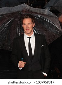LONDON - OCT 8, 2014: Benedict Cumberbatch attends a screening of The Imitation Game on the opening night gala of the BFI London Film Festival at Odeon Leicester Square in London