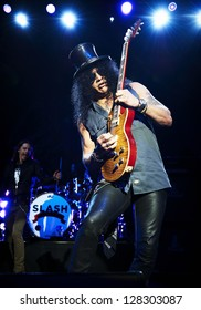 LONDON, OCTOBER 11: Slash and Myles Kennedy performs at The O2 Brixton on October 11, 2012 in London.