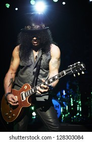 LONDON, OCTOBER 11: Slash performs at The O2 Brixton on October 11, 2012 in London.