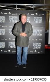 LONDON - OCTOBER 19: Actors William Shatner  Attends Destination Star Trek England's Largest Ever Star Trek Convention October 19, 2012 in London, England.