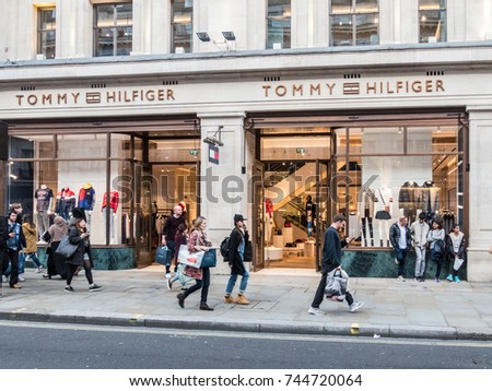 d8d4f9385 London, October 2017. A view of the Tommy Hilfiger store on regent Street.