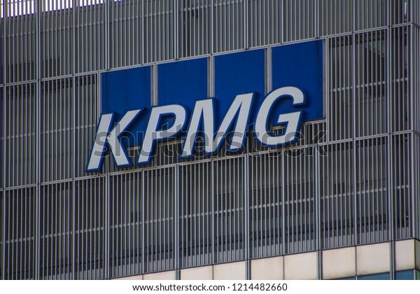 London October 2018 Kpmg Logo On Stock Photo (Edit Now