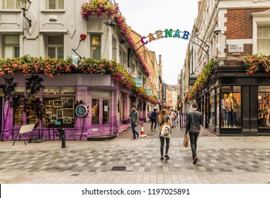 London. October 2018. A view of Carnaby street in london