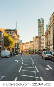 London October 2018. A view of shoreditch high street in London