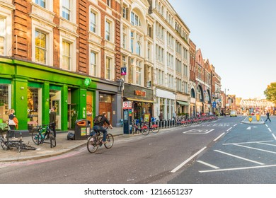 London. October 2018. A view of Shoreditch High Street in london
