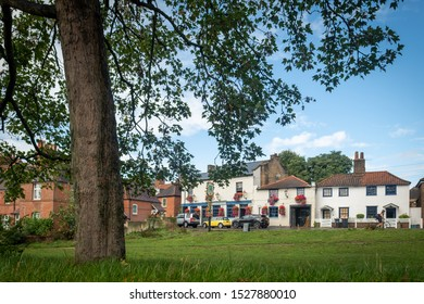 LONDON- OCTOBER, 2019: Crooked Billet, a picturesque residential street in Wimbledon, south west London.
