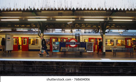 London, October 9, 2017 : View railway station in London, clean and orderly surroundings