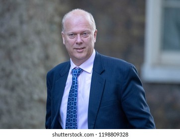 LONDON OCTOBER 9TH 2018, Chris Grayling MP PC, Transport Secretary,, arrives at a  Cabinet meeting at 10 Downing Street, London