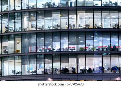 London office building skyscraper, working & meeting