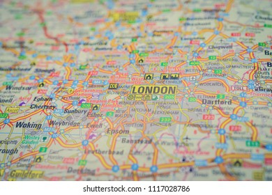 London on the map