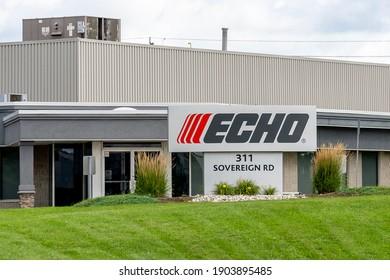 London, Ontario, Canada - August 30, 2020: ECHO Power Equipment Canada in London, Ontario, Canada. ECHO Power Equipment (Canada) is a division of ECHO, Inc.