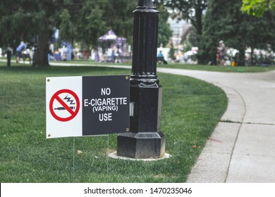London Ontario Canada, August 4 2019: No smoking or vaping at London's Ribfest.