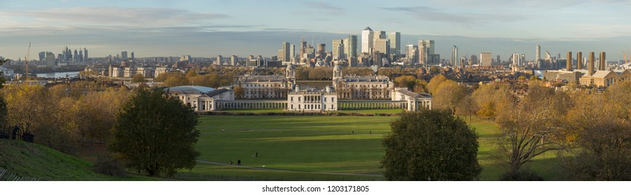 London panorama from Royal Observatory, Greenwich