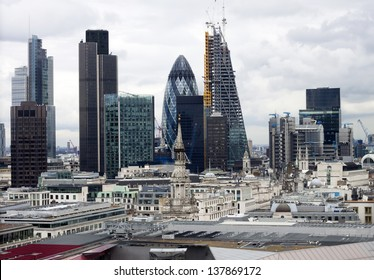 London panorama from St. Paul cathedral