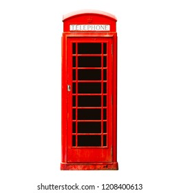 London phone booth isolated on white background
