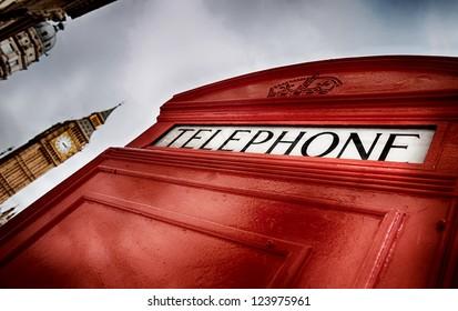 London phone box HDR