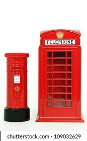 London postbox and telephone box