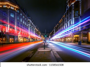 London regent street at night